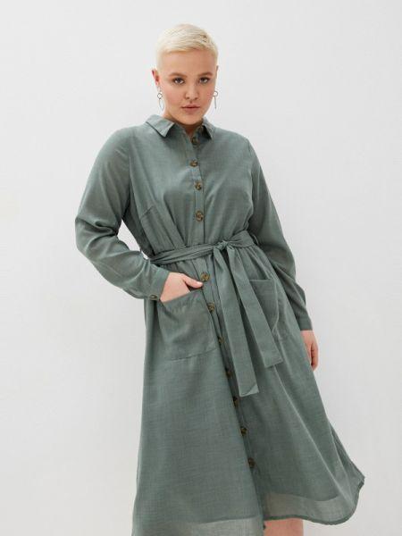 Платье платье-рубашка зеленый Junarose