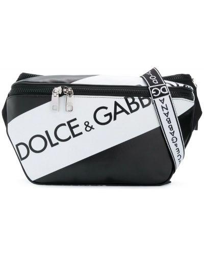 Поясная сумка кожаная хлопковая Dolce & Gabbana