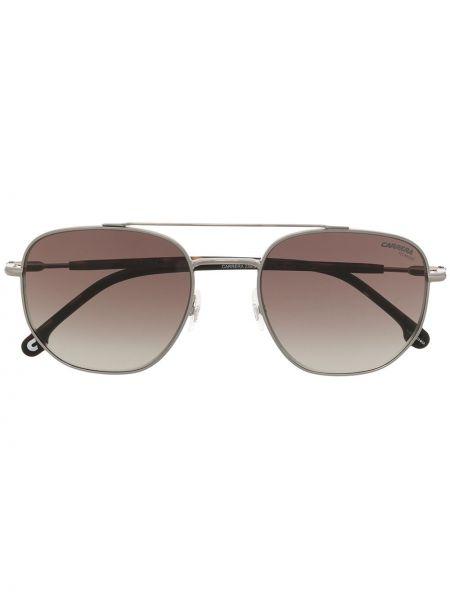 Прямые серебряные солнцезащитные очки квадратные Carrera