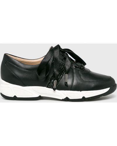Кожаные кроссовки - черные Baldowski