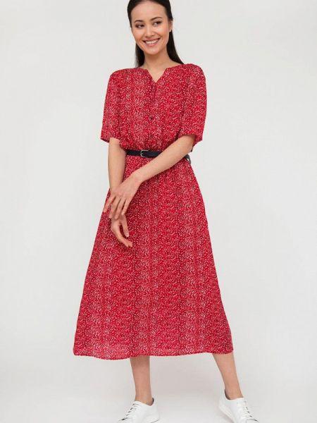 Расклешенное платье - красное Finn Flare