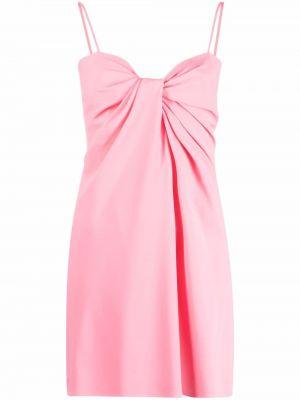 Розовое шелковое платье мини без рукавов Valentino