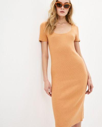 Оранжевое прямое платье А-силуэта Rodier
