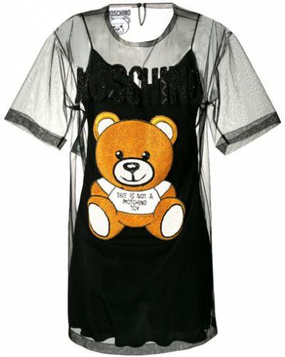 Платье мини с рукавами с вырезом Moschino