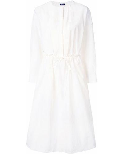 Платье миди с вырезом расклешенное Jil Sander Navy