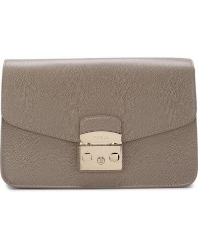 Кожаный сумка с логотипом однотонная Furla