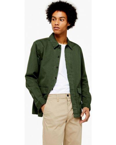 Куртка осенняя зеленая Topman