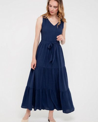 Синее прямое платье Gregory