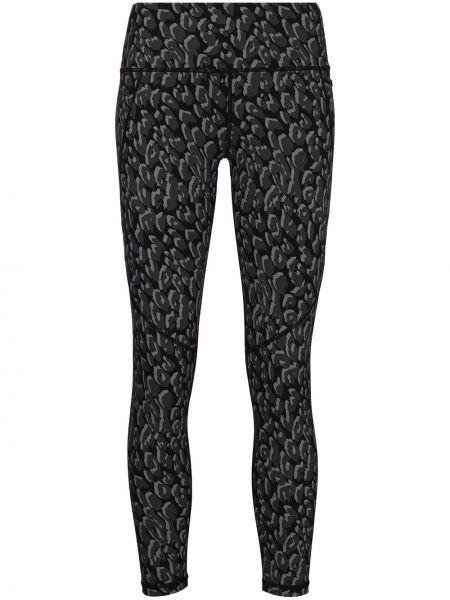 Czarne legginsy z wysokim stanem z printem Sweaty Betty