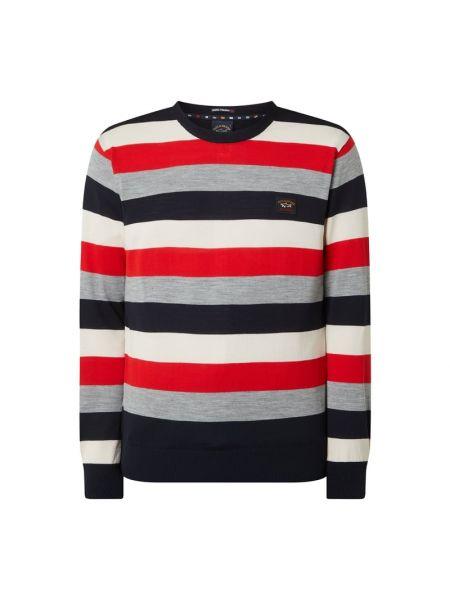 Sweter wełniany w paski Paul & Shark
