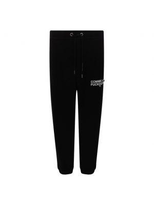 Черные хлопковые брюки Comme Des Fuckdown