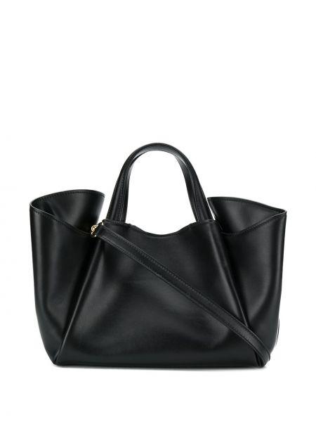 Skórzana torebka na ramię czarna Giaquinto