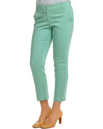Хлопковые брюки - зеленые Armani Collezioni