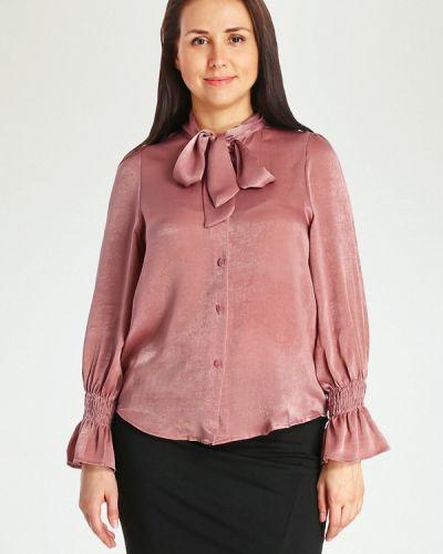 Блузка розовая с бантом Marissimo