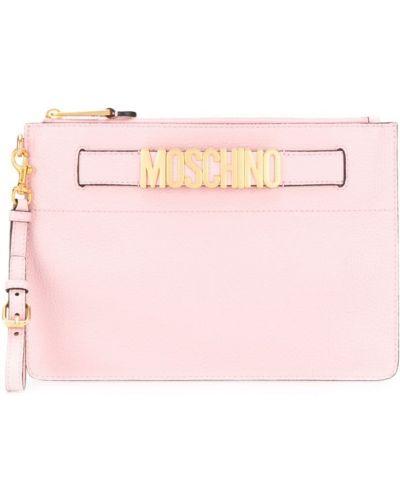 Złota kopertówka - różowa Moschino