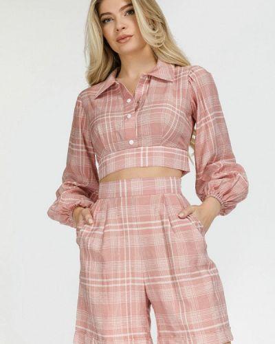 Розовый костюм осенний Clever Woman Studio