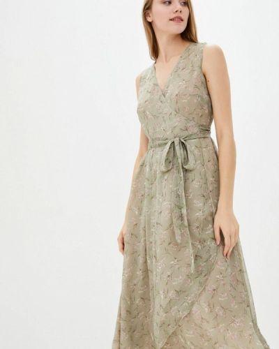 Зеленое платье с запахом German Volf
