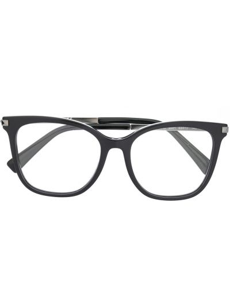 Черные очки квадратные металлические с заклепками Valentino Eyewear