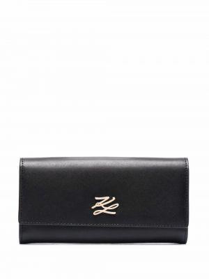 Черный кожаный кошелек Karl Lagerfeld