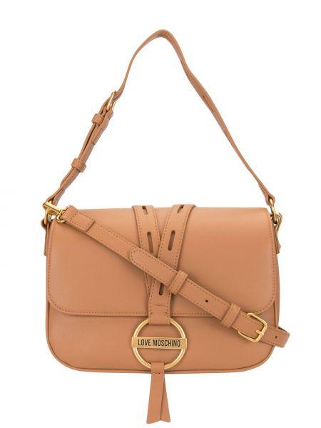 Кожаная сумка - желтая Love Moschino