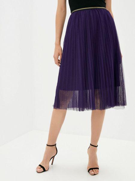 Плиссированная фиолетовая плиссированная юбка Shelter