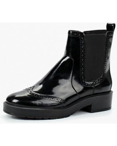 Кожаные ботинки осенние на каблуке Geox