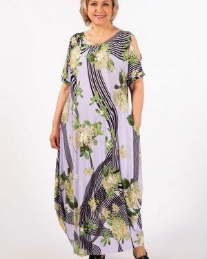 Летнее платье в стиле бохо с карманами с вырезом из вискозы милада