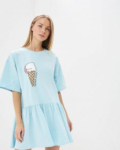Голубое платье весеннее Trendyangel