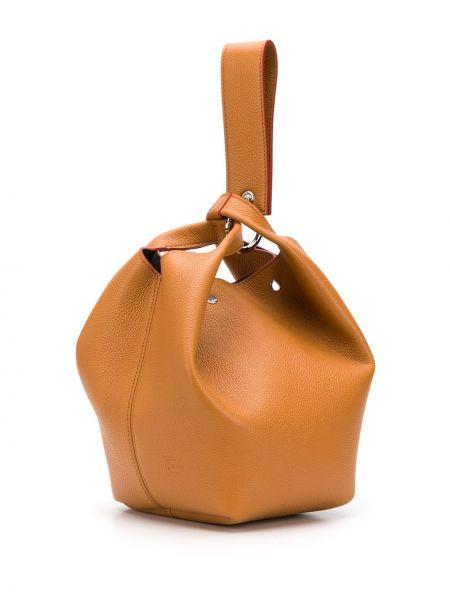 Кожаная сумка-тоут с карманами Elena Ghisellini