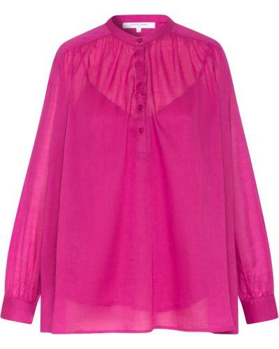 Расклешенная розовая блузка с драпировкой Gerard Darel