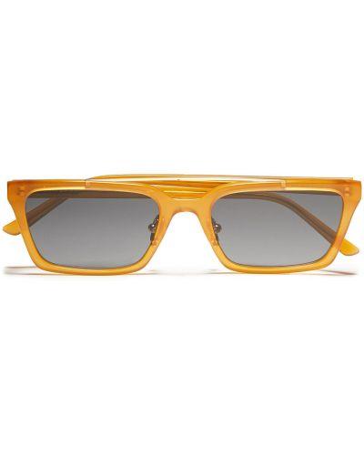 Brązowe złote okulary Self-portrait