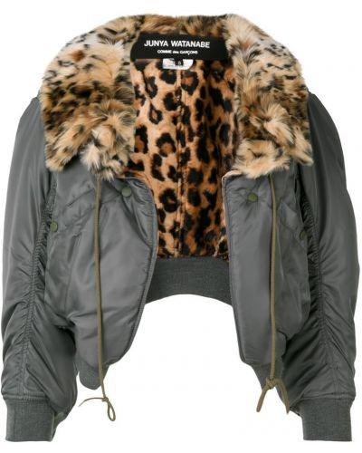 Кожаная куртка нейлоновая леопардовая Junya Watanabe Comme Des GarÇons