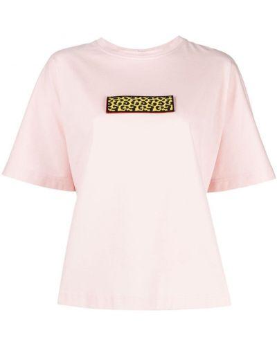 Прямая хлопковая футболка с вырезом Krizia