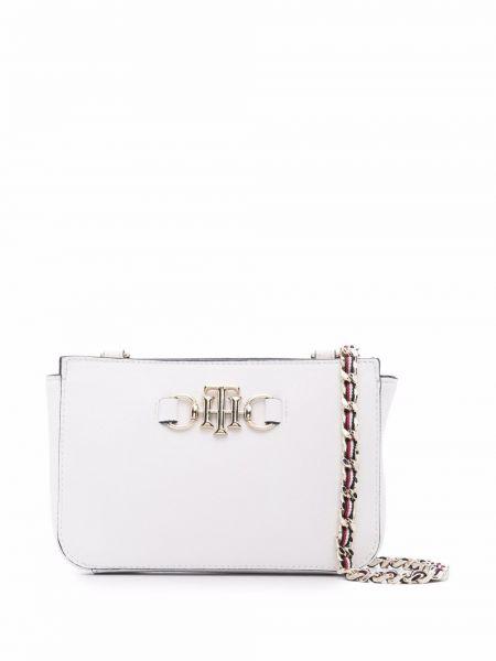 Złota torebka na łańcuszku - biała Tommy Hilfiger