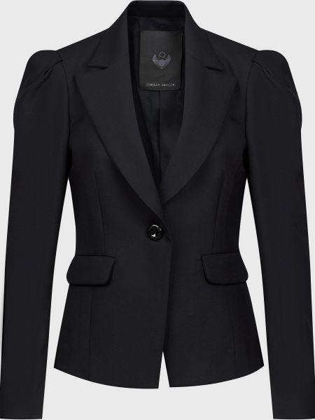 Шерстяной черный пиджак на пуговицах Frankie Morello