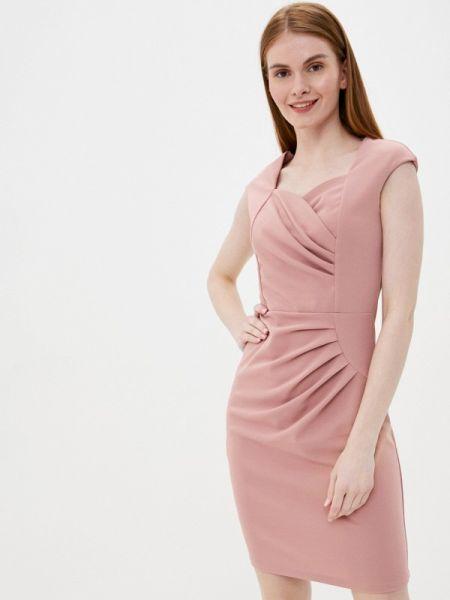 Платье футляр розовое Tantra