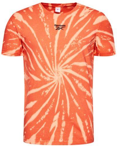 Pomarańczowy t-shirt Reebok Classic