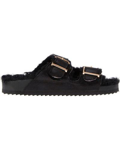 Черные сандалии с мехом Colors Of California