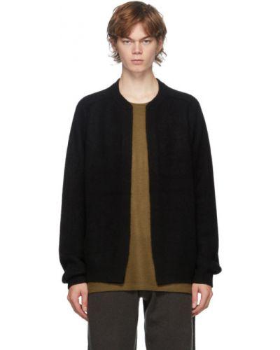 Z kaszmiru czarna długa kurtka z długimi rękawami Frenckenberger