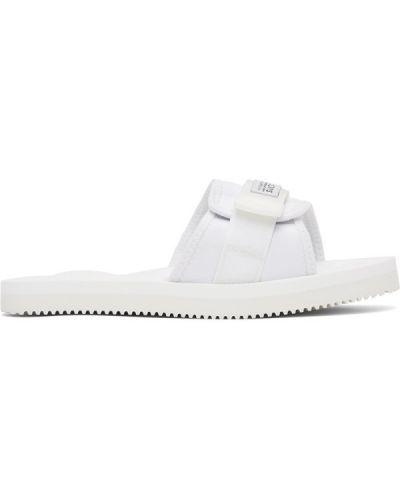 Białe sandały na rzepy z nylonu Suicoke