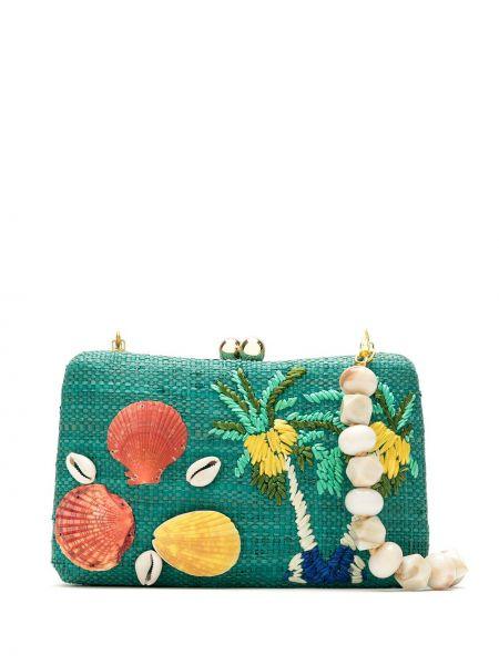 Зеленая соломенная сумка Serpui