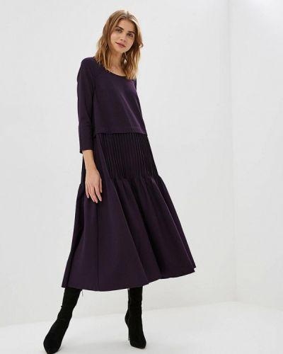 Вечернее платье осеннее фиолетовый Madam T