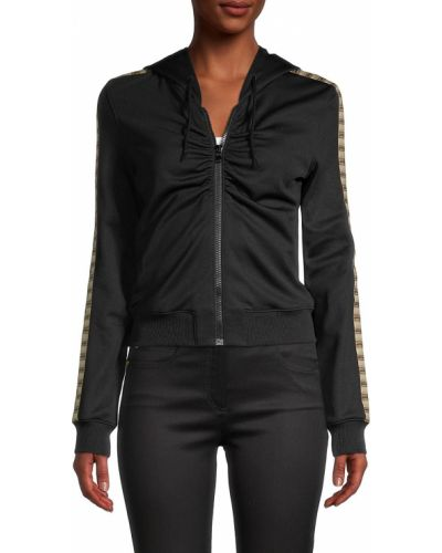 Куртка с капюшоном - черная Moschino