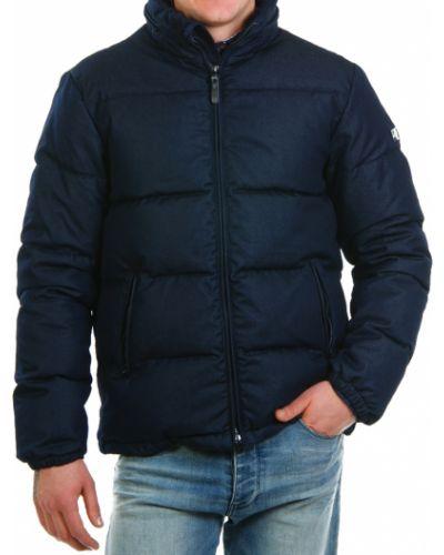 Синий пуховик Armani Jeans