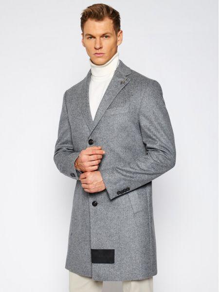 Płaszcz wełniany - szary Baldessarini