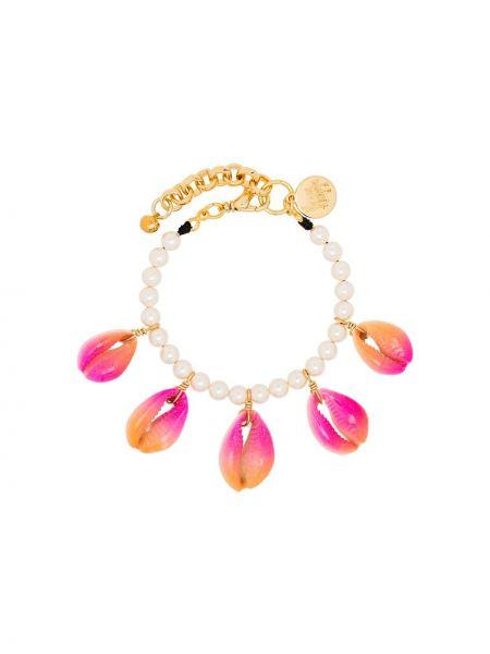 Różowa złota bransoletka ze złota perły Venessa Arizaga