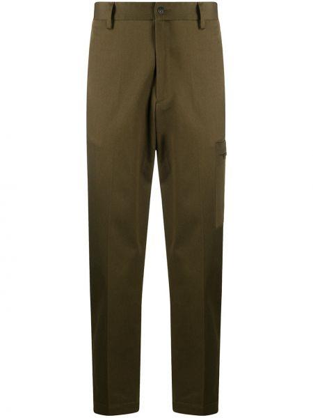 Bawełna bawełna zielony przycięte spodnie z kieszeniami Briglia 1949