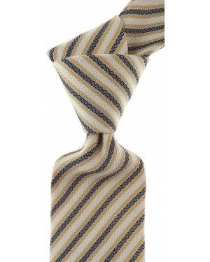 Niebieski krawat w paski z jedwabiu Borrelli