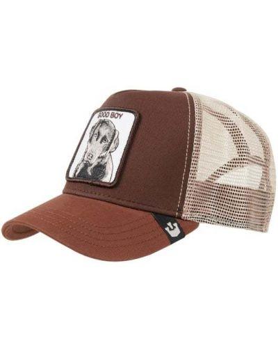 Brązowy bawełna bawełna czapka z daszkiem Goorin Bros
