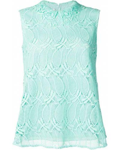 Блузка без рукавов кружевная зеленый Giamba